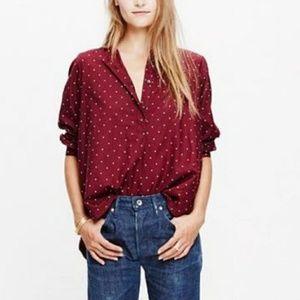 Madewell polka dot button up shirt